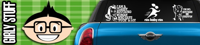 Girly Decals & Stickers
