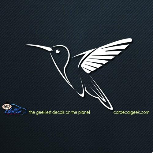Hummingbird Car Decal Graphic Window Stickers