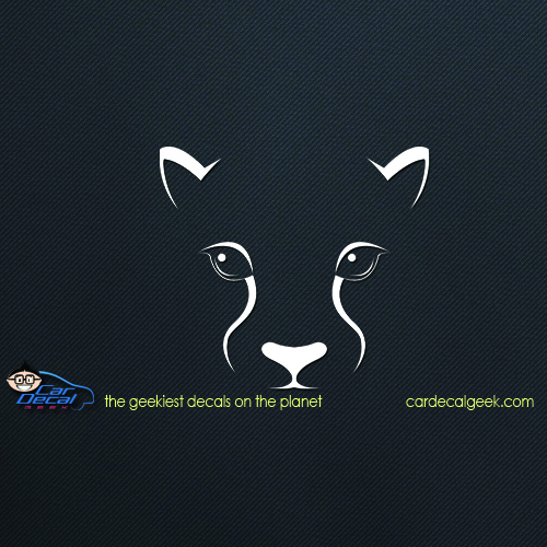 Muscle Car Decals >> Panther Mountain Lion Cougar Car Window Decal   WIldlife Stickers