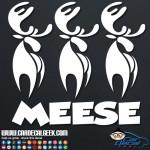 3 Moose Meese Car Window Vinyl Decal Sticker Graphic