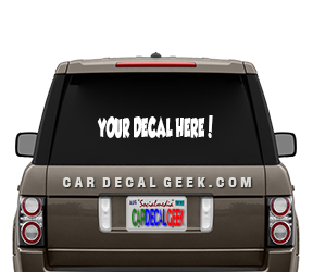 Custom Vinyl Car Window Decals Stickers Graphics