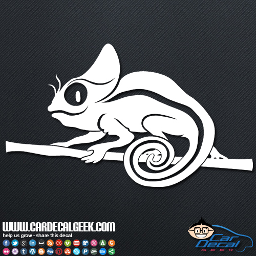 Cute Chameleon Lizard Car Vinyl Decal Sticker Reptile Decals