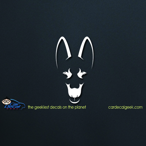 German Shepard Dog Head Car Decal Sticker Dog Decals