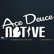 Ace Deuce Native Car Decal