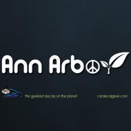 Ann Arbor Peace Leaf Car Decal