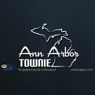 Ann Arbor Townie Car Decal