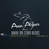 Ann Arbor Where My Story Begins Car Decal