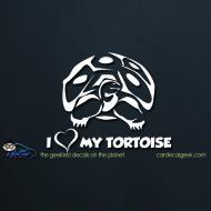 I Love My Tortoise Car Decal