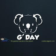 Koala Bear G'Day Car Decal