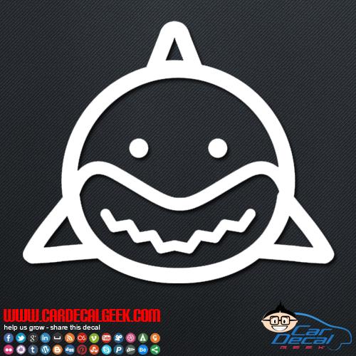 Cute Shark Vinyl Window Decal Sticker Shark Decals
