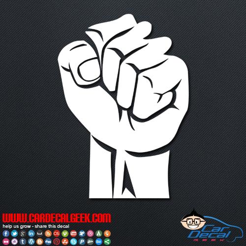 Fist Power Vinyl Car Amp Wall Decal Sticker Graphic