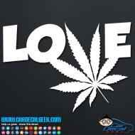 Marijuana Love Decal Sticker