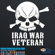 Iraq War Veteran Skull Decal Sticker