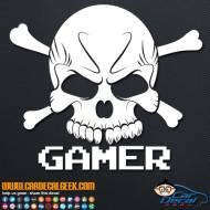 Gamer Skull Decal Sticker