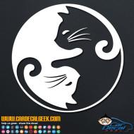 Cat Yin Yang Decal Sticker
