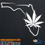 Florida Marijuana Pot Leaf Decal Sticker