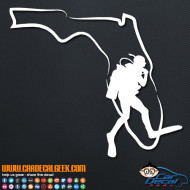 Florida Scuba Diver Decal Sticker