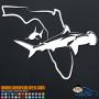 Florida Swimming Sharks Decal Sticker