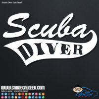 Scuba Diver Vinyl Car Decal