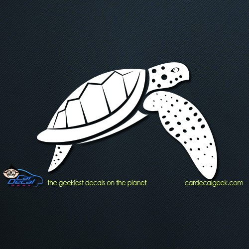 Swimming Sea Turtle Car Window Decal