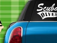 Scuba Diving Decals & Stickers