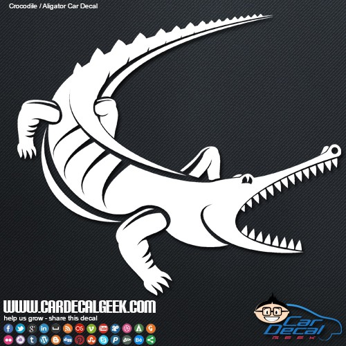 Alligator or crocodile car window decal alligator or crocodile car window decal