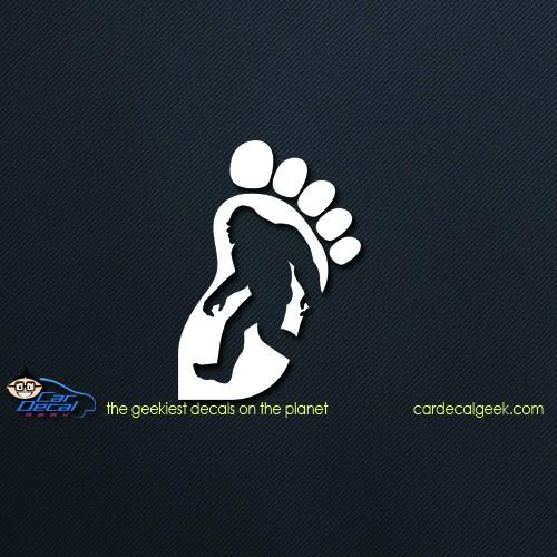 Bigfoot Foot Silhouet Car Decal
