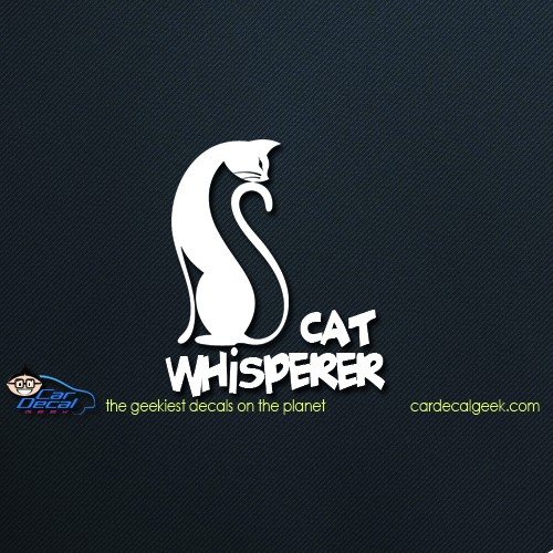 Cat Whisperer Car Window Decal Sticker