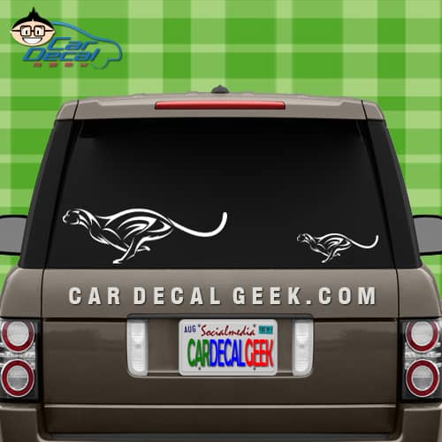 Cheetah Car Sticker