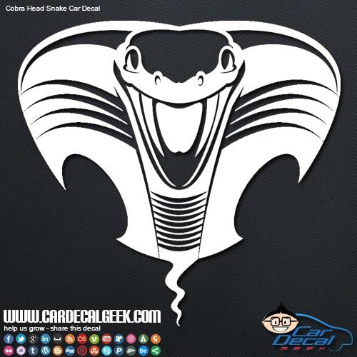 Cobra Snake Head Vinyl Car Decal