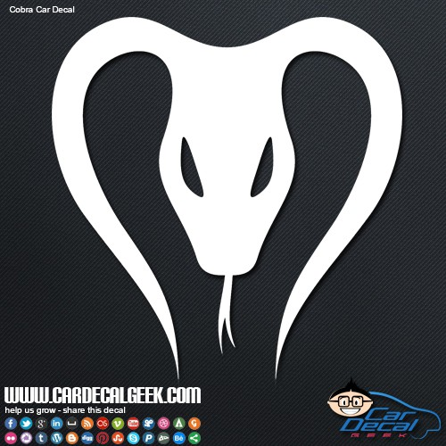 Cobra Car Decal