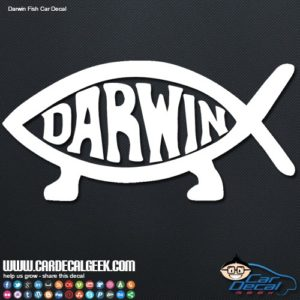 Darwin Fish Evolution Car Window Decal