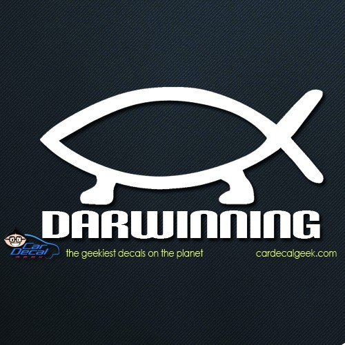 Darwinning Evolution Car Window Decal