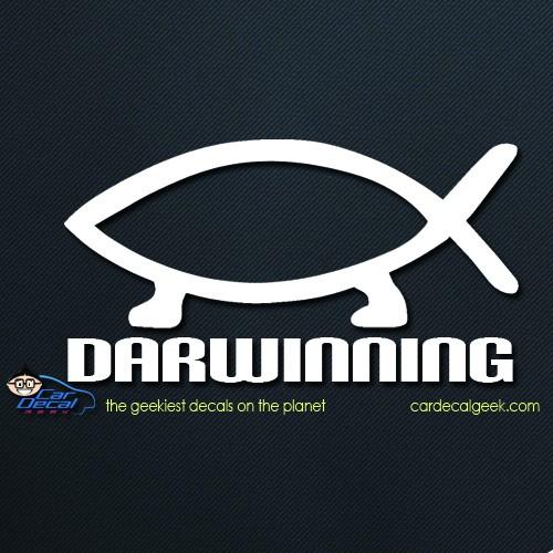Darwinning Evolution Car Window Decal