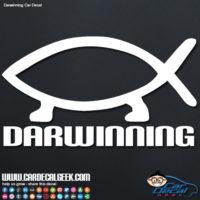 Darwinning Evolution Car Window Decal Sticker