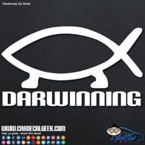 Darwinning Evolution Car Window Decal Sticker