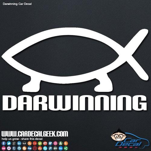 Darwinning Evolution Decal Sticker