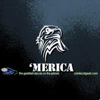 'Mercia Eagle Head Car Window Decal