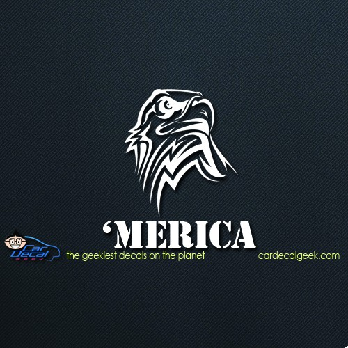 'Mercia Eagle Head Car Window Decal