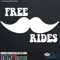 free mustache rides car decal