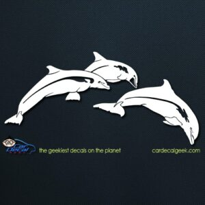 Jumping Dolphins Car Window Decal Sticker