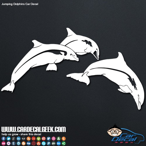 Freaking Awesome Jumping Dolphins Car Decal