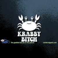 Krabby Bitch Car Window Decal
