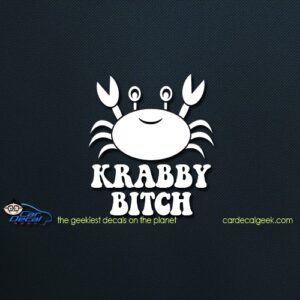 Krabby Bitch Car Window Decal