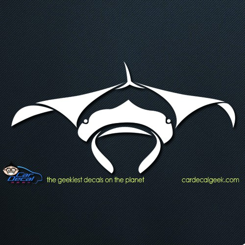 Manta Ray Car Window Decal