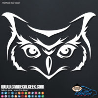 Owl Face Car Window Decal Sticker