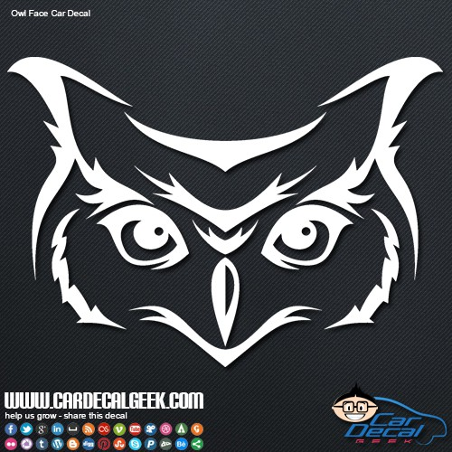 Owl Face Vinyl Wall Car Decal Sticker Graphic - Car window decal stickers