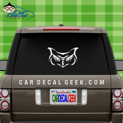Owl Face Car Window Decal Sticker Graphic