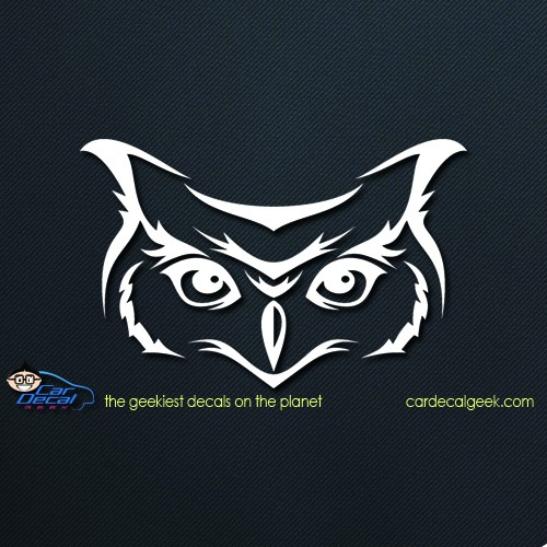 Owl Face Car Window Decal
