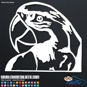 Awesome Macaw Parrot Car Decal